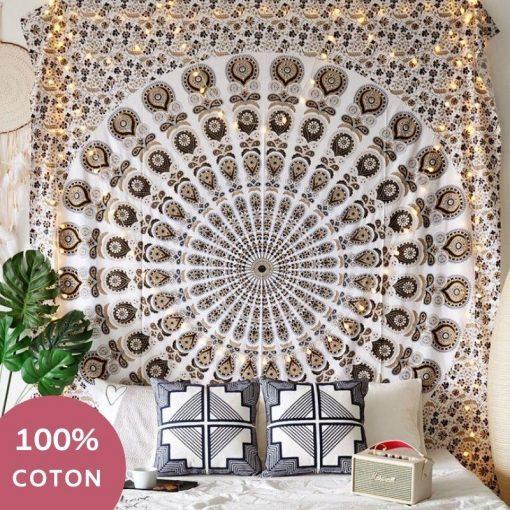 Gold Baumwolle Wandbehang
