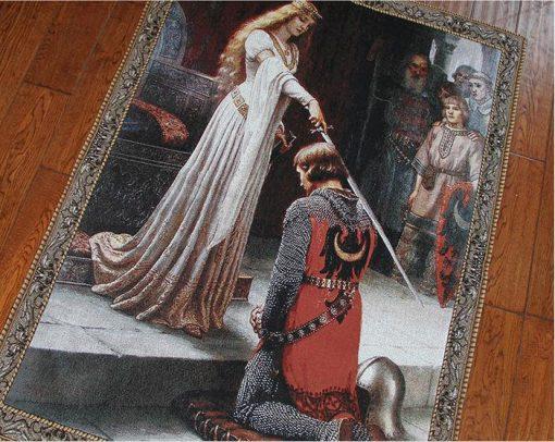 Wandbehang Mittelalterliche Prinzessin