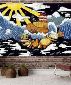 Japanisches Boot Wandbehang